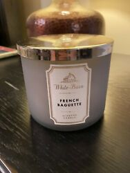 Bath amp; Body Works FRENCH BAGUETTE 3 Wick WHITE BARN Candle 14.5oz NWT $33.99