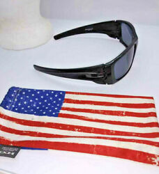 Limited Edition OAKLEY Matte Black Out Fuel Cell Black Lens W Blacken US FLAG $60.00