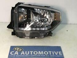 2018 2019 Toyota Tundra Driver Left Lh Headlight Halogen With Led Drl Depo Cf80