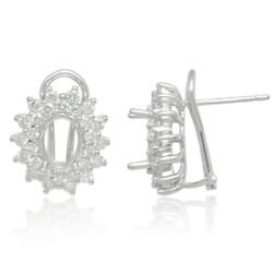 2.02ct Pave Diamond 18kt Solid White Gold Handmade Clip On Earrings Gift Jewelry