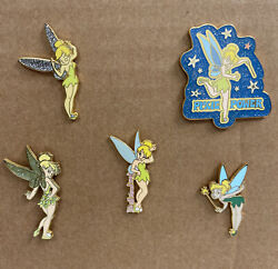 Rare Disney Collectible Trading Pins 2002 2006 Tinkerbell Lot Of 5
