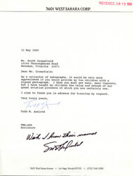 Scott Crossfield - Autograph Note Signed 05/31/1989