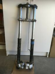 1977 Bmw R100rs Complete Front Suspension Including Dual Brakes W/ Lines Axle