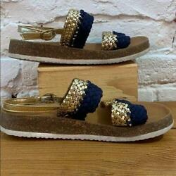 Gap Kids Strap Gold and Navy Sandals MTW Clothing $18.00