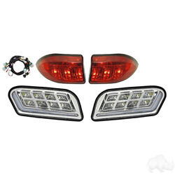 Club Car Tempo Golf Cart Full Led Headlight Tail Light Kit With Accent Lights