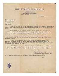 Howard Hughes Typed Letter Signed April 7th 1932