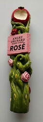 Angry Orchard Rose Hard Cider Figural Beer Tap Handle 11 Inch Size