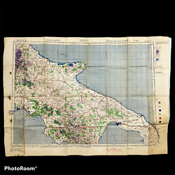 Wwii 1942 Allied 'europe Air' Bomber Map - Napoli - Bombing Of Naples