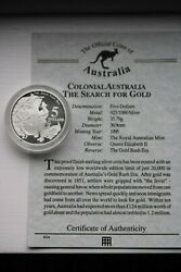 Colonial Australia The Search For Gold Five Dollar Coin.