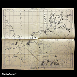 Wwii Royal Air Force 2-20-1945 Bombing Raid Mission Captains Map On Nuremberg