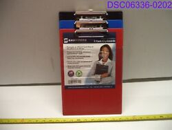 Qty=36 12 Packs Of 3 Saunders Recycled Plastic Clipboard Red Blue Black 22601