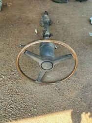 Cuda Steering Column Assembly 4 Speed Manual At Console Wheel 1970 –1974 E Body