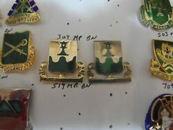 Military Insignia Crest Dui Set Of 2 519th Police Battalion Service To The Troop