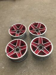 1991 1992 Chevy Camaro Red Aluminum 15andrdquo Wheels Rims Factory Rs Ss Alloys