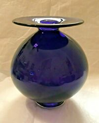Ben Cobb Art Glass Vase Signed And Dated And03996 Amethyst Near Mint