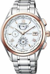 Citizen At9114-57a Exceed Eco-drive Radio Watch Double Direct Flight Mens New