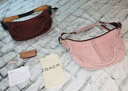 Set Of 2 Coach Suede Small Hobo Purses $78.00