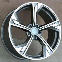 Set4 20x9.0 5x112 Wheels And Tires Pkg Audi A4 S4 A6 S6 A5 S5 A7 A8 Q5 Q3 Rs