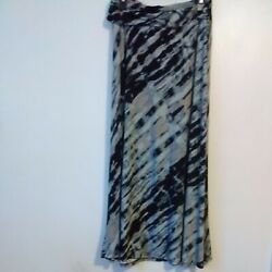 Robert Louis Women Size Lg. Multi colored Polyester Spandex Maxi Skirt $12.99