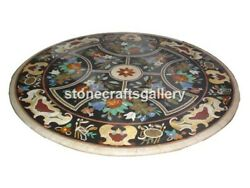 4and039 Marble Dining Table Top Multi Stone Mosaic Floral Inlay Garden Art Decor B071