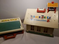 Vintage Fisher Price Play Family School And Desk.