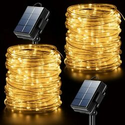 2 Pack 200 Led Solar Power Fairy Lights String Lamps Party Decor Garden Outdoor