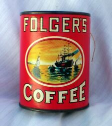 1960's Folgers Coffee Can Puzzle - Unopened