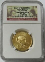 2011 W Gold 10 Julia Grant 1/2oz Spouse 2,892 Minted Ngc Mint State 70 Er