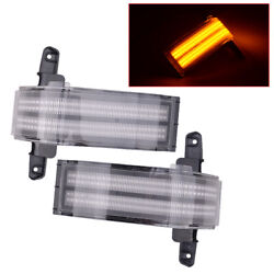 Dual-row Amber Led Strip Tow Mirror Marker Light Fit For Chevy Silverado Durable
