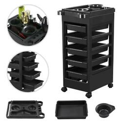 Hairdressing Trolley Hair Rolling Cart Salon Beauty Spa W/bowl Drawers Hair