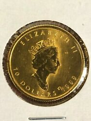 1999 Canada Gold Maple Leaf 1/4 Oz 9999 Sp Ed 20 Years Ans Privy Only 500 Minted