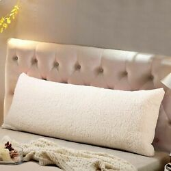 Reafort Ultra Soft Sherpa Body Pillow Cover Case with Zipper Closure 21quot;x54quot;