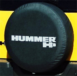 16inch Spare Wheel Tire Cover For Hummer H3 Silver Logo Denim Vinyl Tyre Covers