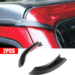 2pcs Water Rain Gutter Extension Car Fit For Jeep Wrangler Jl 18-20 Gladiator Jt