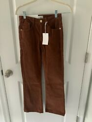 Frame Le Cropped Mini Bootcut Mid Rise Corduroy Pants In Butterscotch Size 24 Nw