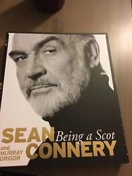 Sean Connery Signed Being A Scot Book On Official Plate James Bond Autograph