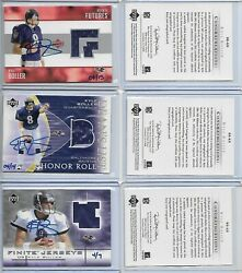 2004 Ultimate Buy Back Buyback Auto Jersey Set Kyle Boller Matching Serial 4