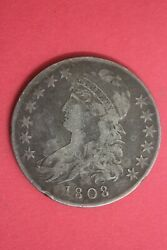 1808 Capped Bust Liberty Half Dollar Exact Coin Shown Flat Rate Shipping Oce 05