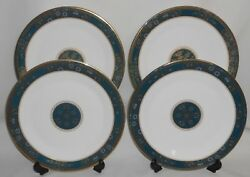 Set 4 Royal Doulton Carlyle Pattern Bone China Dinner Plates Made In England