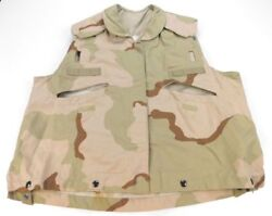 Desert Camouflage 3 Color Pasgt Combat Vest Cover Us Military Small/medium