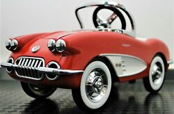 Mini Pedal Car Chevrolet Chevy Corvette Race Too Small For Child To Ride On