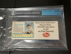 1962 Post Cereal Mickey Mantle Ad Back Life Magazine Uncut Bgs Mislabeled Gehrig