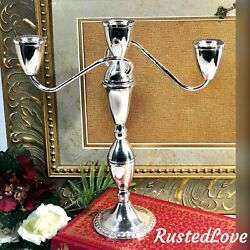 Duchin Creations Sterling Weighted Candelabra 3 Arm Taper Candle Stick
