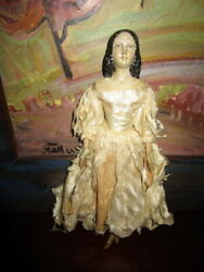 Outstanding Antique Papermache-wooden Doll 13groednertal Germany Museum Piece