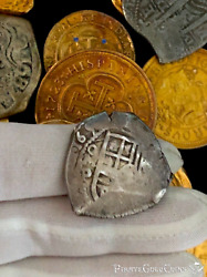 Mexico 4 Reales 1650 Dated 1715 Fleet Fisher Pendant Pirate Gold Coins Treasure