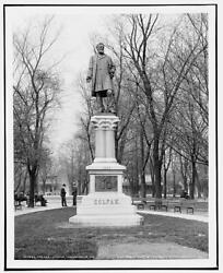 Schuyler Colfax Statue,sculpture,indianapolis,in,detroit Publishing Company,1904