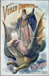 Veiled Prophet will appearSt. LouisTuesdayOct. 2nd1883flying dragon