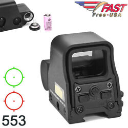 Red Green Dot Reflex Sight Scope Tactical Holographic Optic 20mm Rail 553 Series