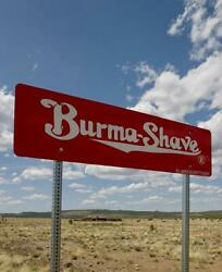 Photo Of Burma Shave Sign,route 66,arizona,az,may 2009,america,clouds