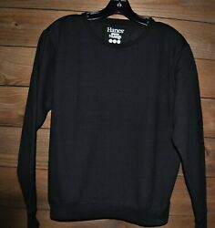 Hanes black long sleeve sweatshirts new without tags small